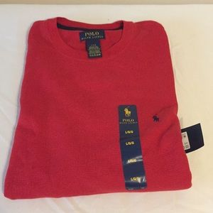 Polo Ralph Lauren Red Long Sleeve Shirt